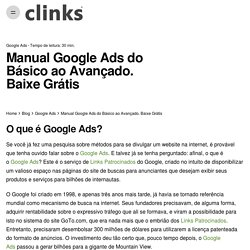 Manual Google Ads do Básico ao Avançado. Baixe Grátis