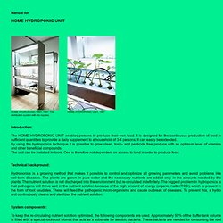 Manual for HOME HYDROPONIC UNIT