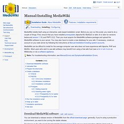 version de l'installation de mediawiki