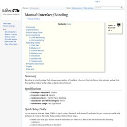 Manual:Interface/Bonding