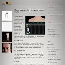 Manual Mode Lighting in the Virtual Lighting Studio