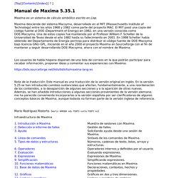 Manual de Maxima 5.35.1:
