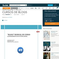 Manual Para Cursos de Blogs
