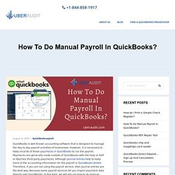 How To Do Manual Payroll In QuickBooks? [Step By Step]