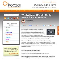 What A Manual Penalty Really Means For Your Website