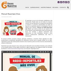 Manual: Reportajes Vivos