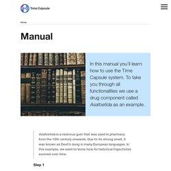 Manual – Time Capsule