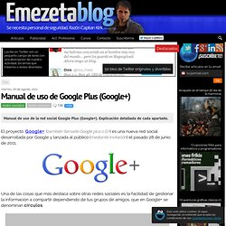 Manual de uso de Google Plus (Google+)
