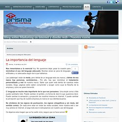 Manuales » Blog sobre Marketing en Internet y diseño web - Nuestra visión