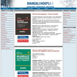 Manuali tecnici - Hoepli - manuali