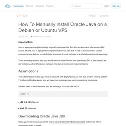 How To Manually Install Oracle Java on a Debian or Ubuntu VPS