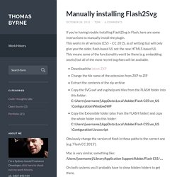 Manually installing Flash2Svg