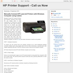 Manually Connect HP LaserJet Printers with Windows Computer using Cables