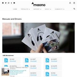 Manuals and Drivers - Maono Technology
