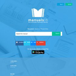 ManualsLib - Makes it easy to find manuals online!