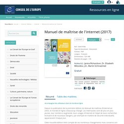 Manuel de maîtrise de l'internet - Council of Europe Publishing