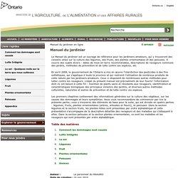 OMAFRA - 2010 - Manuel du jardinier