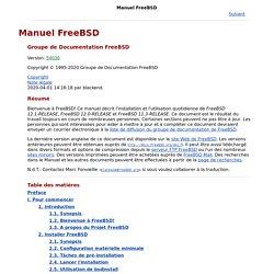 Manuel FreeBSD
