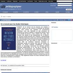 Un e-manuel pour les études historiques