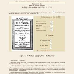 Manuel typographique de Fournier