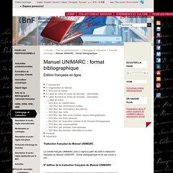 Manuel UNIMARC : format bibliographique