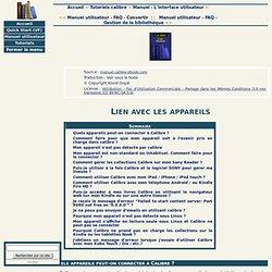 Manuel utilisateur - FAQ - Lien avec les appareils