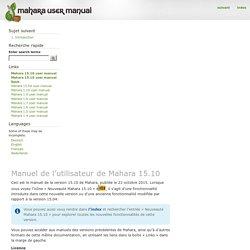 Manuel de l'utilisateur de Mahara 15.10 — Mahara 15.10 user manual