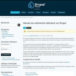 Manuel du webmestre débutant sur Drupal