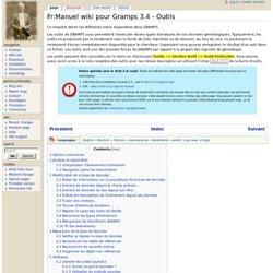Fr:Manuel wiki pour Gramps 3.4 - Outils - Gramps