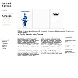 Manuella Editions - Le Dossier Bertrand, jeux d'histoire