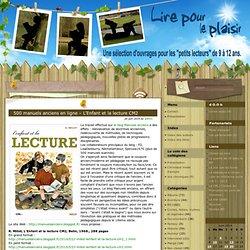 500 manuels anciens en ligne – L'Enfant et la lecture CM2