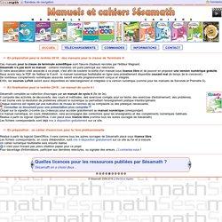Manuels et Cahiers Sésamath - Accueil