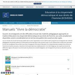 """Manuels """"Vivre la démocratie"""" - Conseil de l'Europe"""