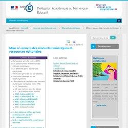 Manuels numériques - dossier - Manuels numériques - Innover avec le numérique - DANE Nice
