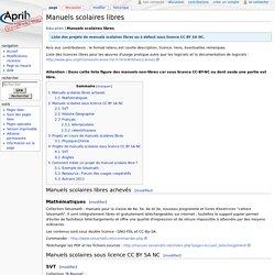 Manuels scolaires libres — April MediaWiki