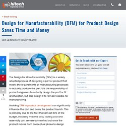 Design for Manufacturability (DFM) for Product Design Saves Time and Money