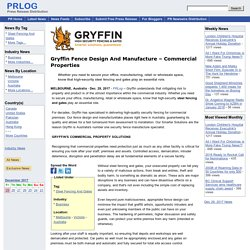 Gryffin Fence Design And Manufacture – Commercial Properties