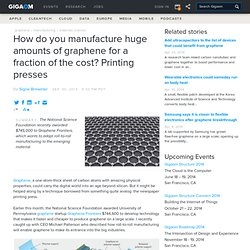 How do you manufacture huge amounts of graphene for a fraction of the cost? Printing presses