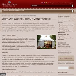 Yurt sales and manufacture in UK, Ireland and Europe : LPM Bohemia