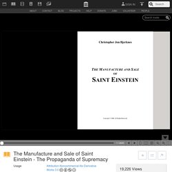 The Manufacture and Sale of Saint Einstein - The Propaganda of Supremacy