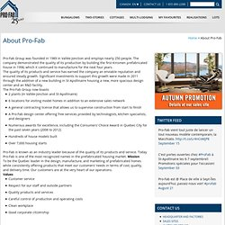 About Pro-Fab Builder home, manufactured home, prefabricated house