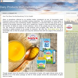How The Ghee Can Be Beneficiary To Our Health