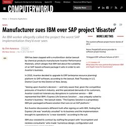 Manufacturer sues IBM over SAP project 'disaster'