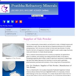 Manufacturer of Talc Powder