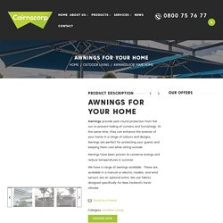 Custom Sized Awnings Manufacturer & Installers Auckland - Cairns Corp