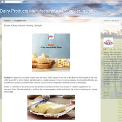 Butter, A Way towards Healthy Lifestyle