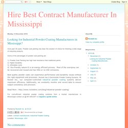 Get best quality Industrial Powder Coating in Mississippi