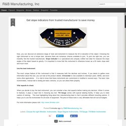R&B Manufacturing, Inc: Get slope indicators from trusted manufacturer to save money