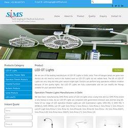 Led OT Lights Manufacturer & Supplier in Delhi
