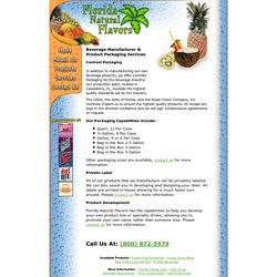 Beverage Manufacturer and Product Packaging Services - Florida Natural Flavors